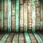 Green old Wood Wall — Stock Photo