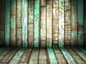 Green old Wood Wall — Stock Photo