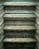 Four Wood Shelf — Stock Photo