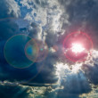 Sunlight on Cloudy sky — Stock Photo