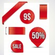 Red set — Stock Vector