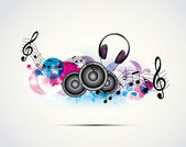 Background music — Stock Vector