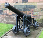 Vintage Heavy Cannon. — Stock Photo