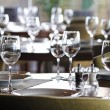 Empty glasses in restaurant — Stock Photo
