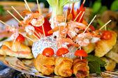 Catering food closeup — Stock Photo