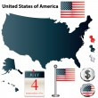 Map of USA — Stock Vector #10780609
