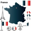 France map — Stock Vector #11053393