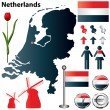 Netherlands map — Stock Vector