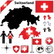 Постер, плакат: Switzerland map