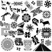 Ancient american design elements — Stock Vector