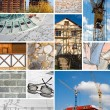 Collage of a building construction - Stock Photo