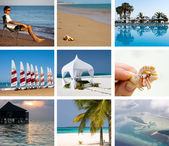 Collage of a tropical vacation — Stock Photo