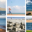 Collage of a summer activity holidays and water sports — 图库照片