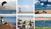 Collage of a summer activity holidays and water sports — Stock Photo