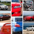 Collage of cars — Stock Photo