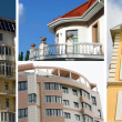 Stock Photo: Real estate collage of four residential houses