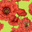 Floral seamless pattern. Poppy — Stock Vector