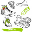 Set of cartoon sneaker — Stock Vector #11330250