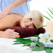 Young woman at spa procedure — Stock Photo #10802765