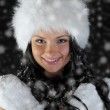 Beautiful woman in a winter hat — Stock Photo #10803466