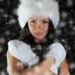 Beautiful woman in a winter hat — Stock Photo #10943806