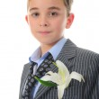 Boy with flower — Stock Photo #10955029