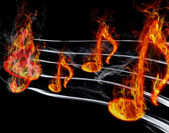 Burning music — Stock Photo