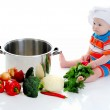 Boy with a pan — Stock Photo #11000012