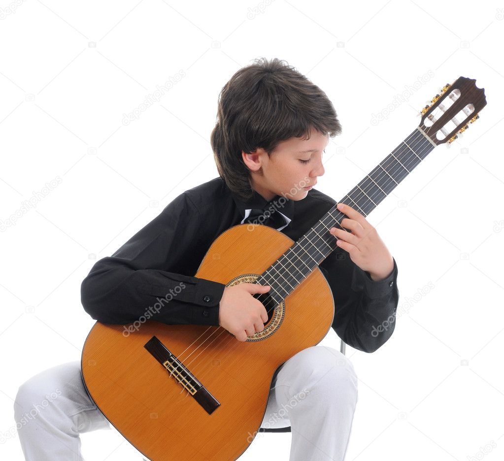 Little Boy Musician Playing Guitar Stock Photo 169 Lebval