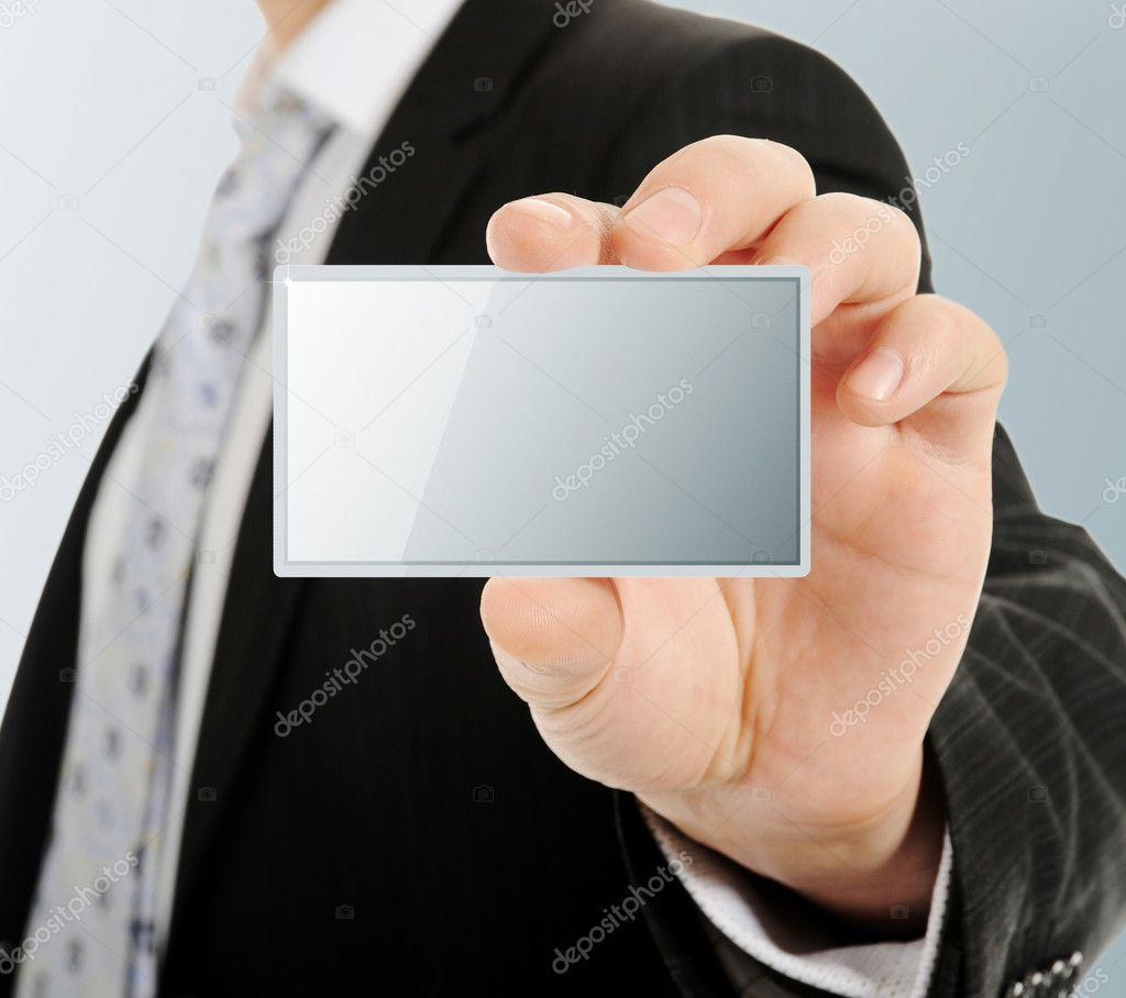 Picture of a card blank in a hand — Stock Photo #11007223