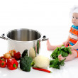 Boy with a pan — Stock Photo #11079943