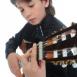 Little boy musician playing guitar — Stock Photo #11221531