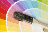 Color Map with Brush — Stock Photo