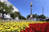 Graz - Mariensäule with Flowers — Stock Photo