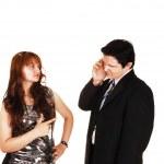 Arguing couple. — Stock Photo