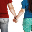 Couple holding hands. — Stock Photo