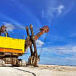 Heavy excavator — Stock Photo
