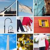 Collage of sights and traditions of Buenos Aires — Stock Photo