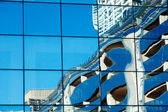 Background of the glass modern office building — ストック写真