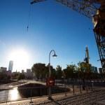 Crane in Puerto Madero Buenos Aires Argentina — Stock Photo #10777236