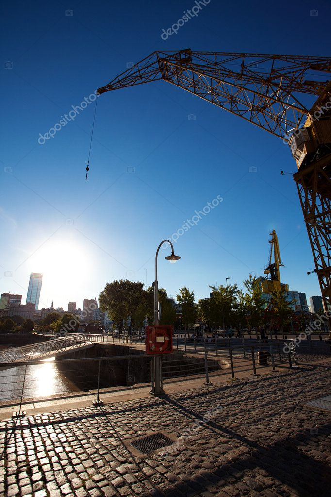 Crane in Puerto Madero Buenos Aires Argentina  Stock Photo #10777236