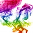 Stock Photo: Wave and smoke of different colors isolated on white