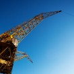 Crane in Puerto Madero Buenos Aires Argentina — Stock Photo #11012145