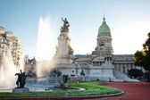 Building of Congress and the fountain in Buenos Aires, Argentina — Stock Photo