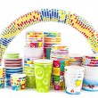 Stock Photo: Rainbow of ice cream paper cup