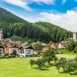 Osanna, Typical alps town in Trentino Italy - Stock Photo