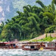 Boating in Guilin river — Stock Photo