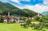 Osanna, Typical alps town in Trentino Italy — Stock Photo