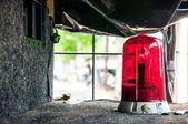 Red emergency rotating alarm — Stock Photo