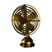 Old fan made by copper for adv or others purpose use — Stock Photo